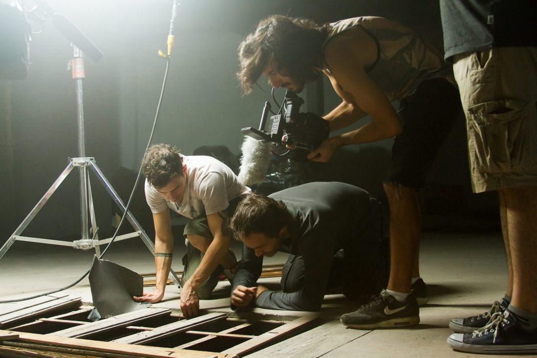 Joaquín Mauad, Gastón Pauls y Diego Pavese durante el rodaje de El Sereno.